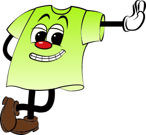 蛍光グリーンカラーマスコット