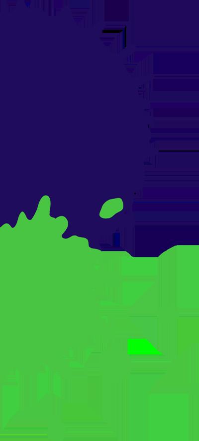 紺&緑インク